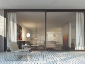 3D Architekturvisualisierung, Rendering, Terrassenhaus, Terrassenansicht