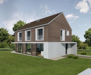 Visualisierung EFH - Aussenansicht 3D Modell | © STOMEO Architketurvisualisierung - Zürich