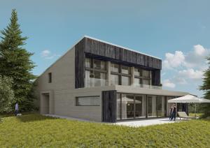 3D Visualisierungen, Häuser, Wohnungen, Einfamilienhaus. Gebäude
