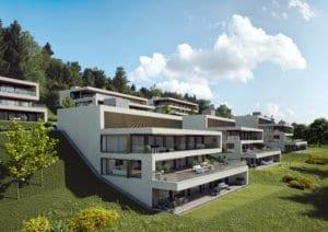 Visualisierung Terrassenhaus | STOMEO Visualisierungen - Zürich