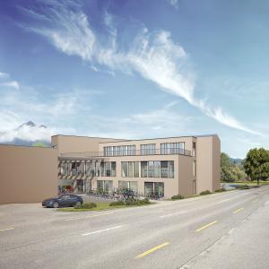 Architekturvisualisierung, Gewerbebau, Bürogebäude, Gewerbehaus, Schulhaus