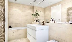 3D Architektur Visualisierung, Badezimmer, Innenraum, Innenansicht
