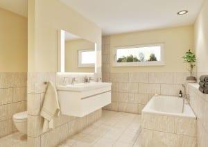 Visualisierung Innenraum Badezimmer