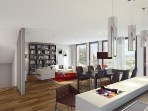 3D Visualisierungen, Architekturvisualisierung, Rendering, Wohnzimmer