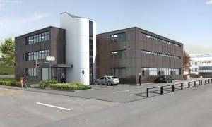 Architekturvisualisierung, Gewerbebau, Bürogebäude, Gewerbehaus, Industrie