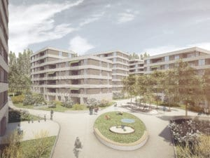 Architekturvisualisierungen, Rendering, Immobilien, Mehrfamilienhaus, Wettbewerb