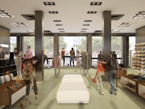 Architekturvisualisierung, Rendering Gewerbebau, Gewerberaum, Kleider, Laden