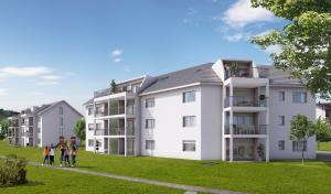 3D Architekturvisualisierung, Rendering, Immobilien, Mehrfamilienhaus