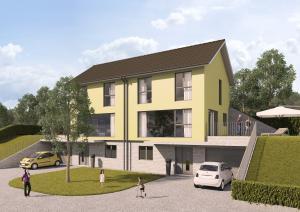 Architekturvisualisierung, Rendering, Häuser, Wohnungen, Einfamilienhaus