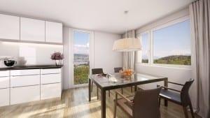 3D Visualisierungen, Immobilien, Rendering, Innenraum, Küche, Esszimmer