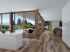Visualisierungen Wohnzimmer - Mehrfamilienhaus in Jona
