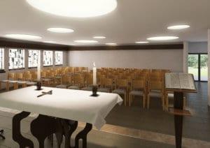 Architekturvisualisierung, Rendering Kirche