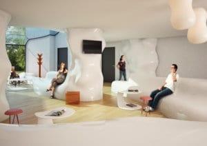 Architekturvisualisierung, Rendering Lounge