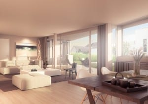 Visualisierungen Wohnzimmer - MFH in Meilen