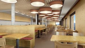 Architekturvisualisierung, Rendering Gewerbebau, Gewerberaum, Restaurant