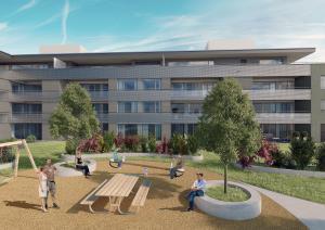 3D Visualisierungen Architektur, Rendering, Gewerbebau, Gewerbehaus, Wohnungen