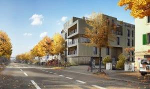 Architekturvisualisierung, Rendering, Immobilien, Haus, Wohnung, Mehrfamilienhaus