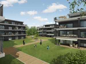 Architektur Visualisierung, Rendering, Immobilien, Mehrfamilienhaus, Gebäude