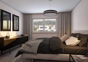 Visualisierung Schlafzimmer Innenraum