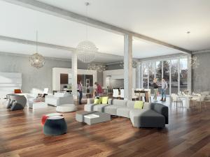 Architekturvisualisierung, Rendering Gewerbebau, Möbel, Laden
