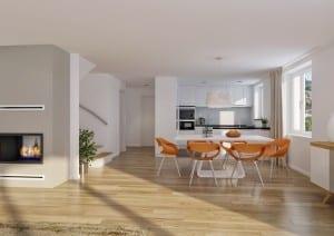 Visualisierung Küche, Innenraum Wohnung in Küsnacht