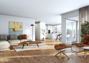 Visualisierung Küche und Innenraum Wohnung in Reiden
