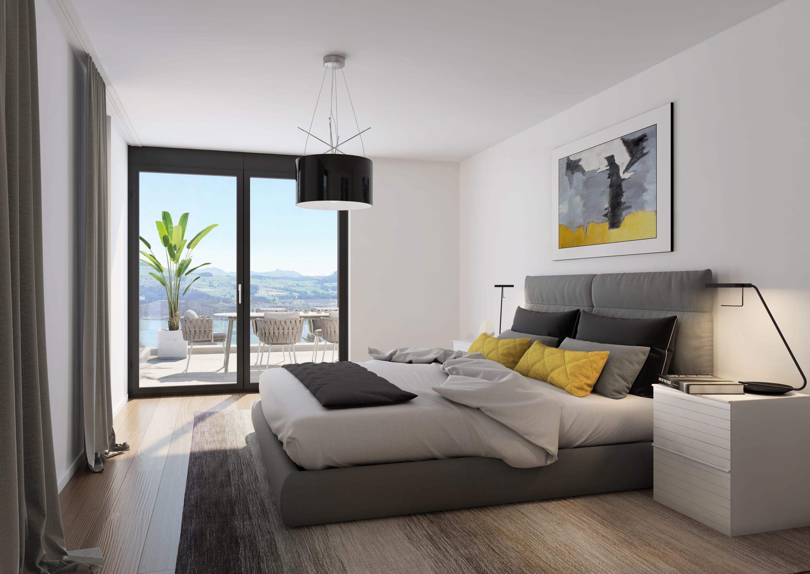 Visualisierung Schlafzimmer in Stäfa