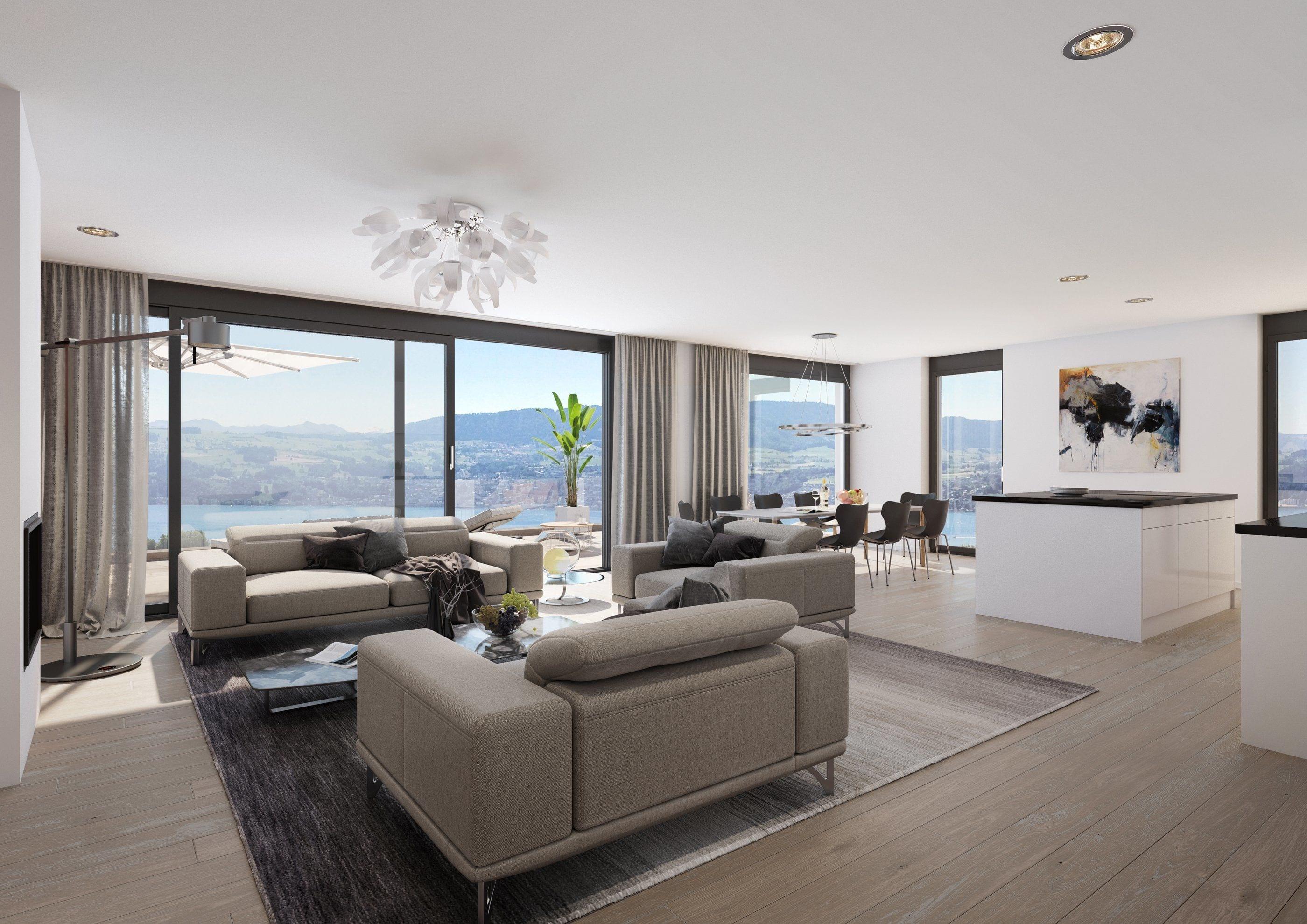 Visualisierungen Wohnzimmer