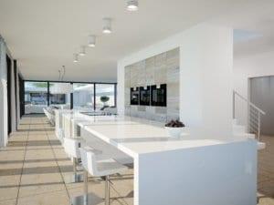 3D Visualisierungen Architekturvisualisierung Architektur Rendering Innenraum Küche Modern