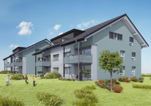 Architekturvisualisierungen, Rendering, Immobilien, Mehrfamilienhaus
