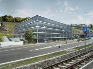 Architekturvisualisierung, Rendering, Gewerbebau, Bürogebäude, Gewerbehaus