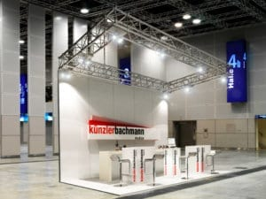 Architekturvisualisierung, Rendering Messestand Messebau