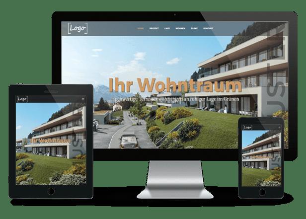Immobilien Homepage für Makler