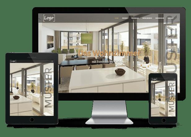 Immobilien Homepage für Immo Makler