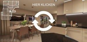 STOMEO Visualisierungen 3D Architektur Visualisierung Architekturvisualisierung Render Rendering Architekturvisualisierungen Immobilien Immobilie virtueller Wohnungsbesichtigung durch 360 Grad Panorama Küche