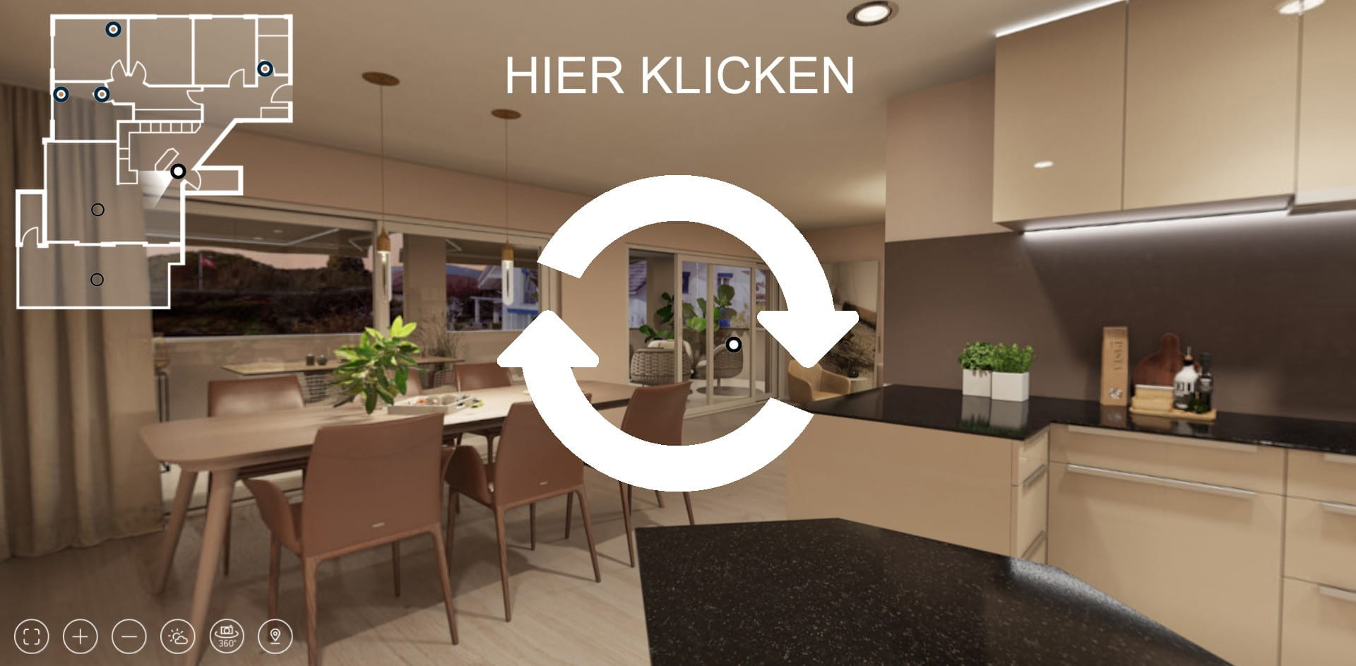 360 Rundgang Wohnung Virtual Reality 3d Animation Stomeo