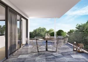 Visualisierung Terrasse MFH in Berneck