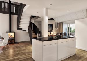 Visualisierung Dachgeschoss Küche - MFH in Gerzensee