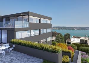 Visualisierung Terrasse und MFH in Kilchberg