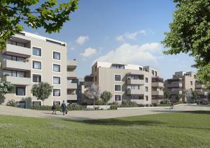 Architekturvisualisierungen Rendering Wohnüberbauungen