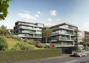 3D Visualisierung Neubau Mehrfamilienhaus in Kilchberg
