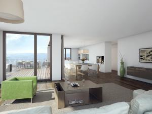 3D Architektur, Architekturvisualisierungen, Rendering Visualisierungen Zürich - Innenraum Wohnung