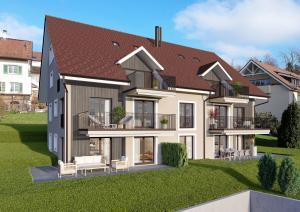 3D-Architektur Visualisierung Mehrfamilienhaus in Uetikon