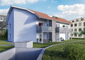 Zürich 3D Architektur Rendering, Visualisierung Mehrfamilienhaus in Frick
