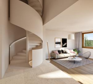 3D Visualisierungen Maisonette Wohnung MFH Maur
