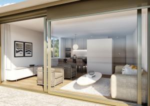 3D-Visualisierung Terrasse - Neubau Haus in Zürich