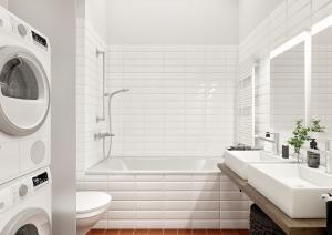 Architekturvisualisierung Badezimmer Wohnung in Zürich