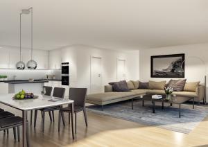 Innenraum Architektur Visualisierung - Mehrfamilienhaus in Biberstein
