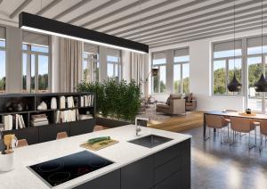 Visualisierung Innenraum Wohnung in Turbenthal