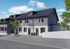 Visualisierung Aussenbild - Neubau MFH in Maur